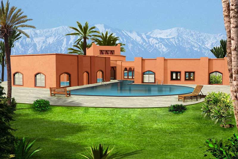 Immobilier marrakech vision immobilier investment - Maison de vacances luxe marker construction ...